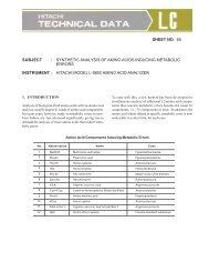 synthetic analysis of amino acids inducing metabolic errors ...