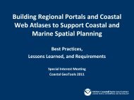 Building Regional Portals and Coastal Web Atlases to Support ...