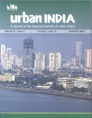 January - June 2012 - National Institute of Urban Affairs