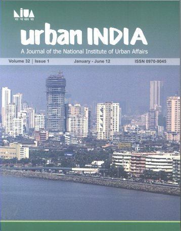 January - June 2012 - National Institute of Urban Affairs