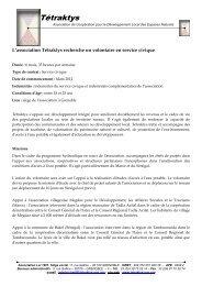 Offre service civique hydraulique - Rhône-Alpes Solidaires