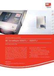 IBC ServeMaster 6000TL+ - 15000TL+