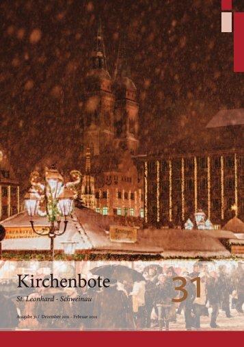 Nr. 31 Dezember 2012 - Nürnberg St. Leonhard-Schweinau