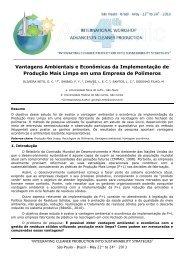 Vantagens Ambientais e Econômicas da Implementação de ...