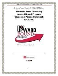 The Ohio State University Upward Bound Program Student & Parent ...