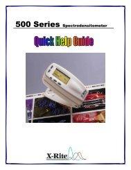 500 Series Spectrodensitometer - X-Rite