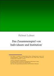 Download als PDF - Auswirkungen auf die Institution