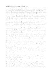 Publikacje pracowników w 2009 roku - Instytut Techniki Budowlanej