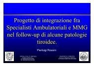 Progetto di integrazione fra Specialisti Ambulatoriali e MMG nel ...