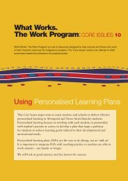 What Works. The Work Program: CORE ISSUES 10