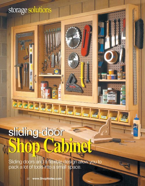 sliding door shop cabinet shopnotes