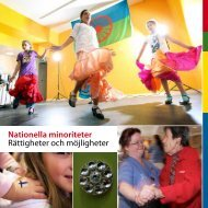 Nationella minoriteter Rättigheter och möjligheter - Länsstyrelserna