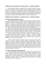 Študijný program: Manažérstvo zemských zdrojov – bakalárske ...