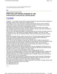 PUD may sell Chelan property to city - Chelan County Public Utility ...