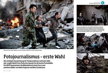 Fotojournalismus – erste Wahl