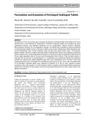 Formulation and Evaluation of Perindopril Sublingual Tablets