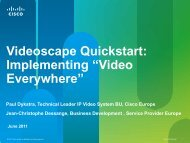 Videoscape Quickstart - Cisco Knowledge Network