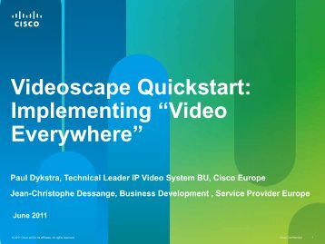 Videoscape Quickstart - Cisco Knowledge Network