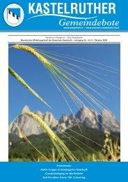 Kastelruther Gemeindebote - Ausgabe Oktober 2008 (3,0 Mb
