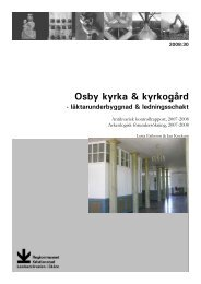 Osby kyrka & kyrkogård - Regionmuseet Kristianstad