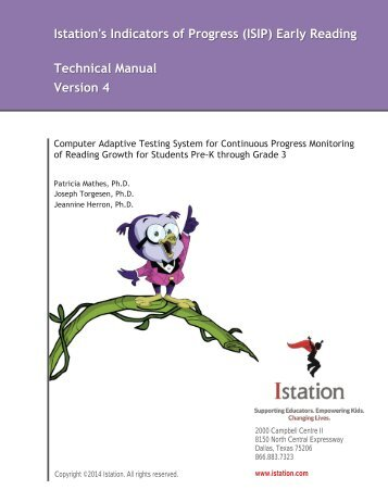 ISIP Early Reading Technical Report - Istation