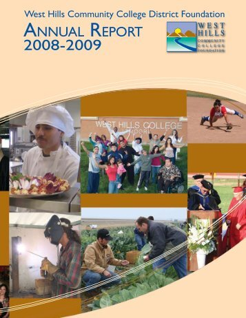 Annual Report 2008-2009 - West Hills College