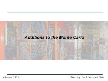 Additions to the Monte Carlo - A2 Mainz