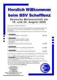 Begleitschreiben zur DM mit Info über Verpflegung ... - BSV Schefflenz