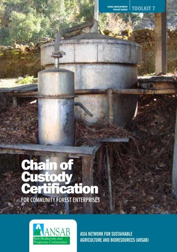 Chain of Custody Certification - Asia Network for Sustainable ...