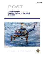 Guidelines for Student Safety in Certified Courses - State of California
