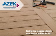 The true cost of owning a deck is more than just building the ... - Azek