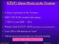 GTeV: Gluon Physics at the Tevatron - UTA HEP WWW Home Page