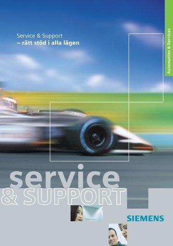 Service & Support – rätt stöd i alla lägen - Siemens