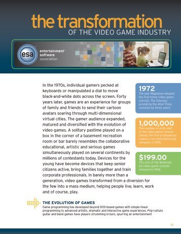 Video Game Industry - Entertainment Software Association