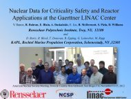 Nuclear Data for Criticality Safety and Reactor Applications at the ...