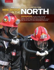 MINE RESCUE IN THE - NWT & Nunavut Chamber of Mines