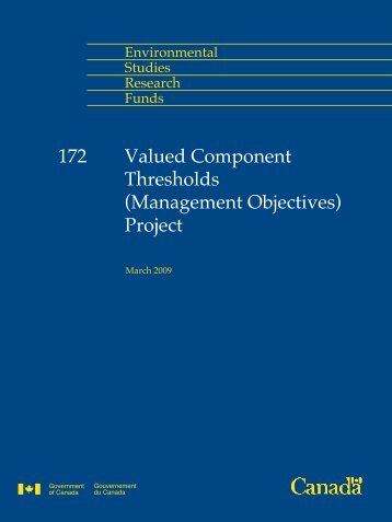 Valued Component Thresholds - Le Fonds pour l'étude de l ...
