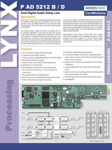 Processing - LYNX Technik AG