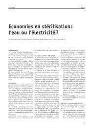 l'eau ou l'électricité? - Société Suisse de Stérilisation Hospitalière
