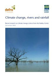 Climate change, rivers and rainfall