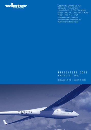 Preisliste 2011 - Winter Bordgeräte