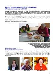Bericht zum Bundesseminar 2013 in Braunlage - HSP ...