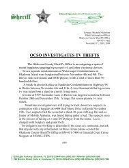 OCSO INVESTIGATES TV THEFTS - Okaloosa County Sheriff's Office