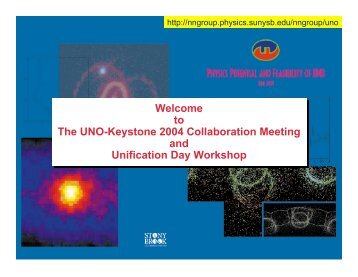 Welcome/Introduction/Meeting Logistics - Stony Brook NN Group