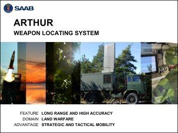ARTHUR Weapon Locating System Presentation - Saab