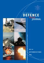 ISSUE 144 : Sep/Oct - 2000 - Australian Defence Force Journal