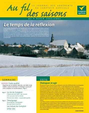 Fil Des Saisons #2 Hiver 2002/2003 - Comptoir Agricole