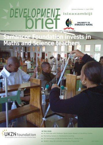 DEV BRIEF APRIL 2009.pmd - University of KwaZulu-Natal