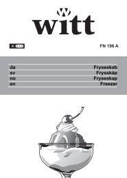 Fryseskab Frysskåp Fryseskap Freezer da sv no en