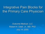 Interventional Pain Blocks for the Family Practitioner - Outcome ...